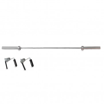 DKN 6ft Olympic Chrome Barbell Bar with Collars