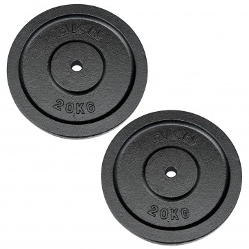 Cast Iron Standard Weight Plates - 2 x 20kg