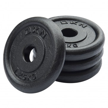 Cast Iron Standard Weight Plates - 4 x 1.25kg