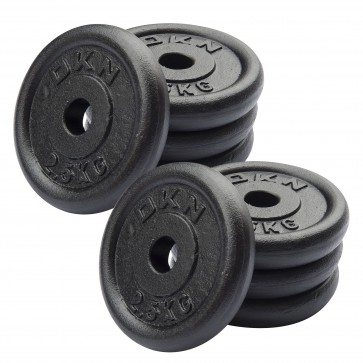 Cast Iron Standard Weight Plates - 8 x 2.5kg