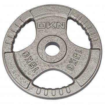 Tri Grip Cast Iron Olympic Weight Plates -  15kg