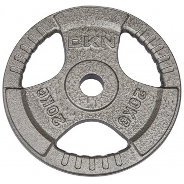 Tri Grip Cast Iron Olympic Weight Plates -  20kg