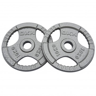Tri Grip Cast Iron Olympic Weight Plates -  2 x 10kg