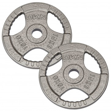 Tri Grip Cast Iron Olympic Weight Plates - 2 x 15kg