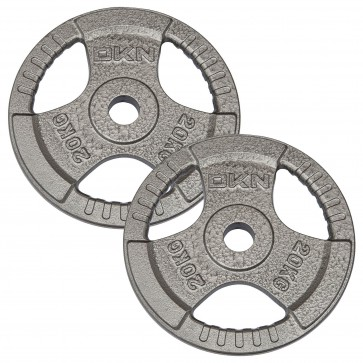 Tri Grip Cast Iron Olympic Weight Plates - 2 x 20kg