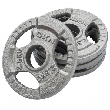 Tri Grip Cast Iron Olympic Weight Plates - 4 x 2.5kg