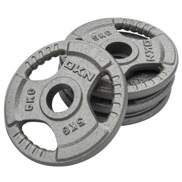 Tri Grip Cast Iron Olympic Weight Plates -  4 x 5kg