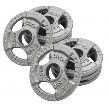 Tri Grip Cast Iron Olympic Weight Plates - 8 x 2.5kg
